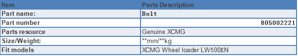 bolt for sale specification