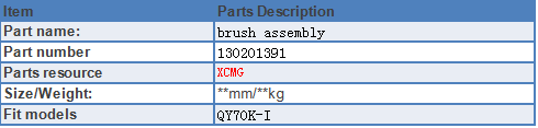 China Brush Assembly for sale