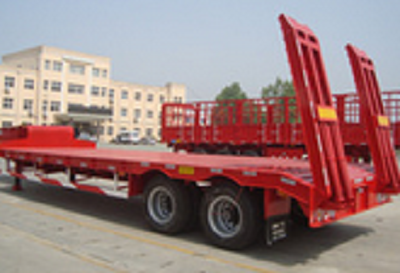Cimc 2 Axles Low Bed Semi Trailer