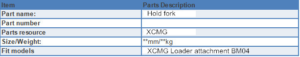 hold fork specification