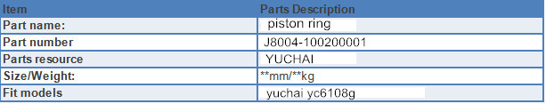 Piston Ring for sale