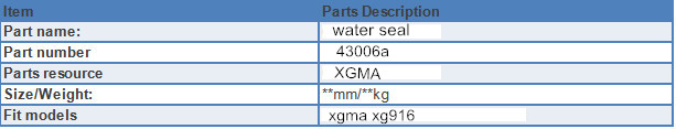 China Water Seal specification
